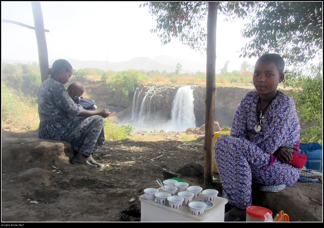 The Tis Abay Falls are the offical beginning of the Blue Nile. Also, fresh coffee!