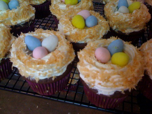 Easter nest cupcakes!
