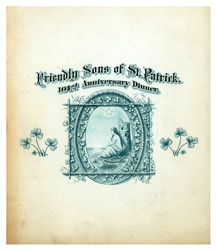 017-101ST ANNIVERSARY DINNER  FRIENDLY SONS OF ST.PATRICK-Portada Menu-1885-NYPL
