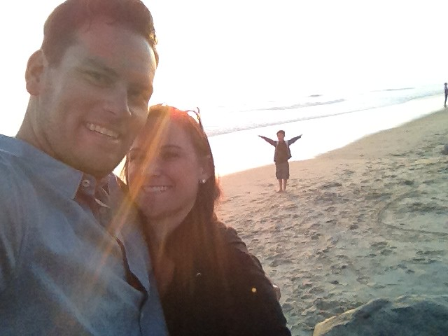 Steph Parker and I SD beach sunset Apr 2012 2