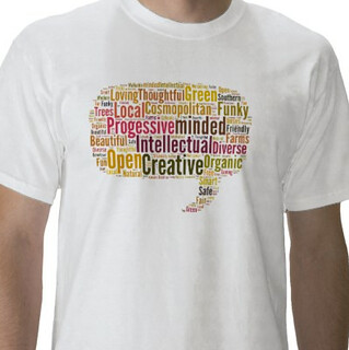 OP tag cloud t-shirt demo