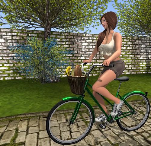 Riding to a picnic