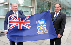 The flag of the Falkland Islands