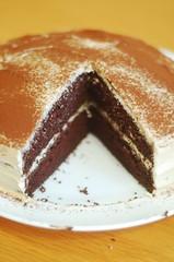 babka(0.0), sachertorte(0.0), chocolate cake(1.0), torta caprese(1.0), baked goods(1.0), flourless chocolate cake(1.0), food(1.0), icing(1.0), dish(1.0), cuisine(1.0),