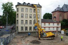 Umgestürzte Bohrmaschine Rheinstr. Mainz 20.06.12