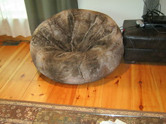 39595957ee5c Giant Furry Bean Bag Chair From Restoration Hardware