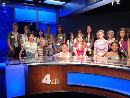NSLC COMM Students Visit NBC 4