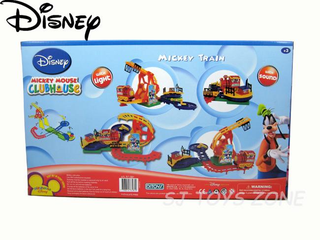 Disney mickey mouse club house train set with track rail for Disney mickey mouse motorized choo choo train with tracks