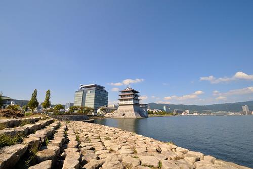blue sky japan day sunny clear shiga otsu lakebewa