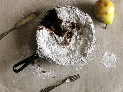 Pear, Chocolate and Mascarpone Cake