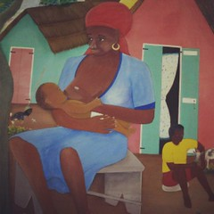 I loved the art I saw in #Haiti's hospitals. #breastfeeding #motherhood #art #travel