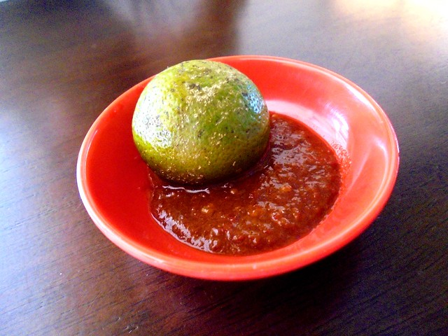 Colourful Cafe sambal belacan dip