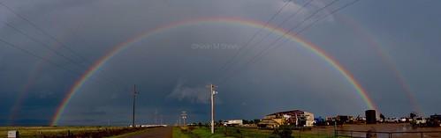rainbow thunderstorm doublerainbow merger supercell