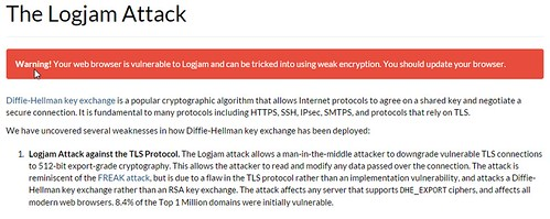 The Logjam Attack - ANOTHER Critical TLS Weakness