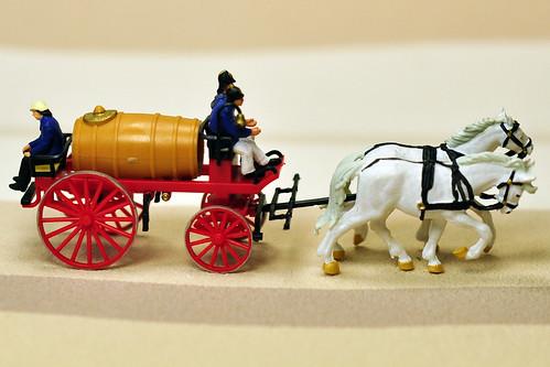 H0 Modellbau Pferdegespann historische Feuerwehr um 1900