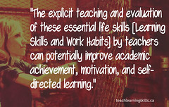 """Educational Postcard:  """"The explicit teaching and evaluation of these essential life skills by teachers can potentially improve academic achievement, motivation, and..."""""""