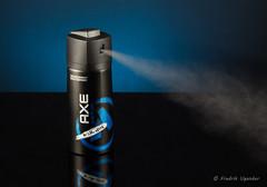 Spraying Deodorant
