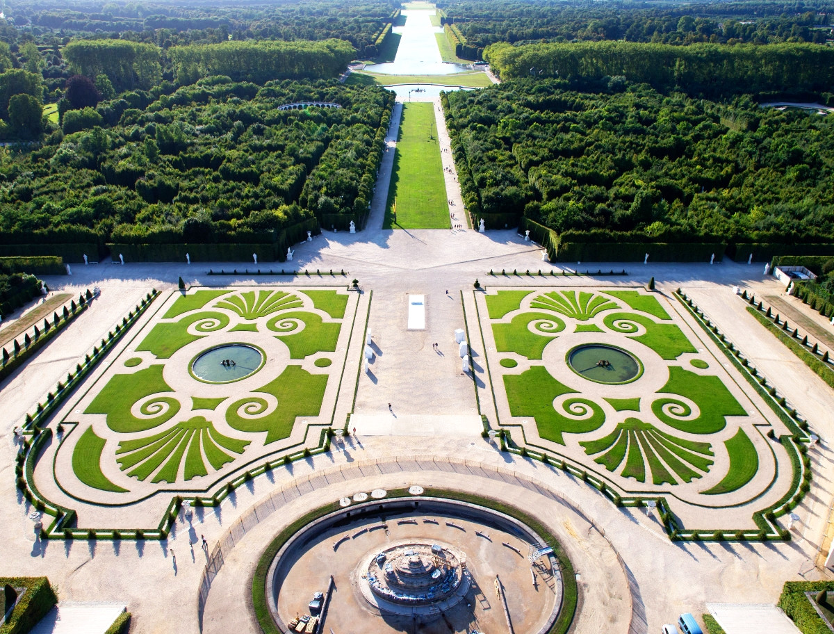 Aerial View of the Domain of Versailles. Credit ToucanWings
