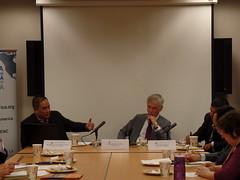 From left to right: Dr. Renato Cruz De Castro, Dr. Marvin Ott, and Dr. Satu Limaye