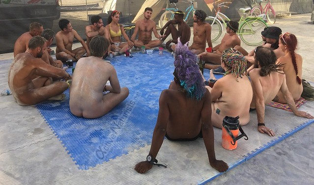 naturist philosophy camp Gymnasium 0000 Burning Man, Black Rock City, NV, USA