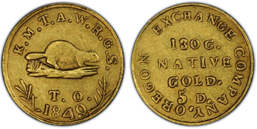 Oregon beaver Gold coin