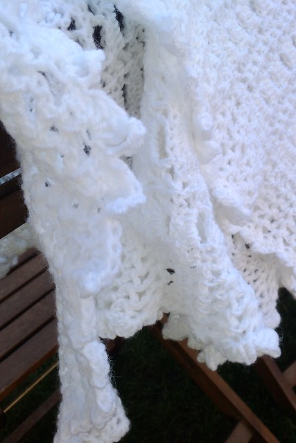 Crochet Patterns Christening Shawls : Crochet christening shawl Flickr - Photo Sharing!