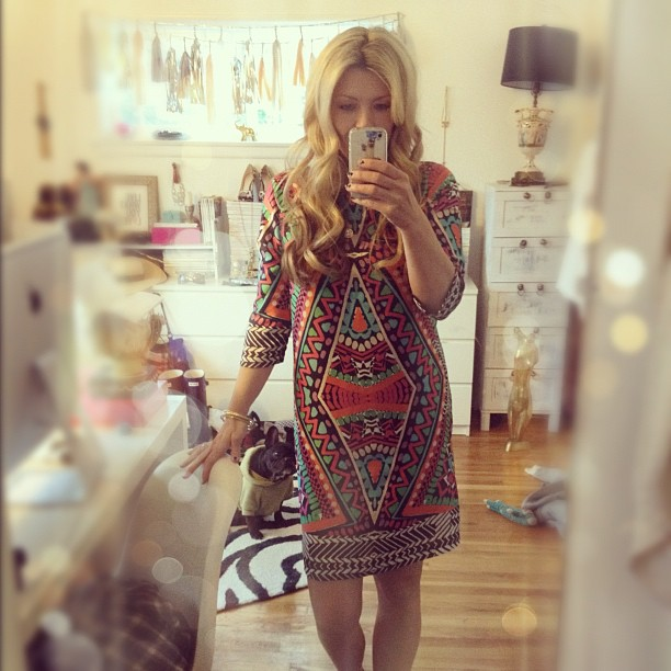 New favorite dress...  (& messy office)