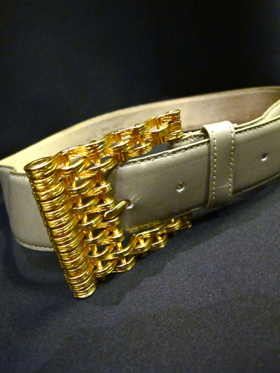Grey and Gold- Anne Klein for Oroton leather belt