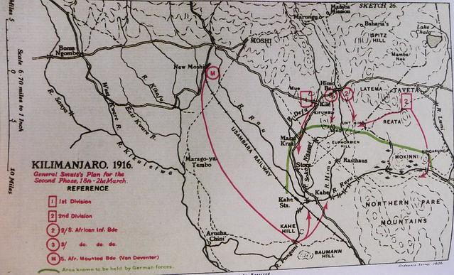Sketch of the advance beyond Kilimanjaro