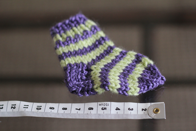 Newborn stripy socks