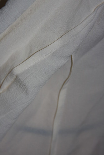 Embroidered shirt french seams