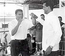 Former heavyweight champion Muhammad Ali and Cuban Olympics boxing great Teofilo Stevenson. Ali sent messages of condolences upon hearing of Stevenson's death. by Pan-African News Wire File Photos