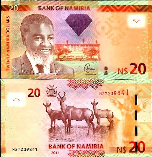 20 Dolárov Namíbia 2012