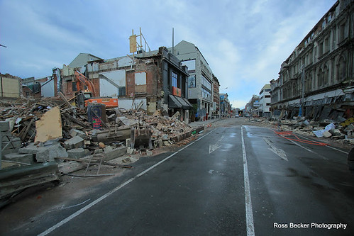 damage in the central business district (by: Ross Becker, creative commons)