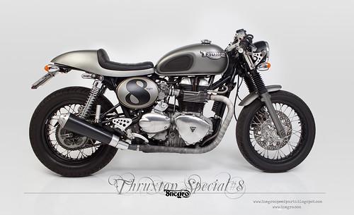 Triumph Thruxton Special#8 by 8negroSpeedParts by 8negro,ton up spirit.