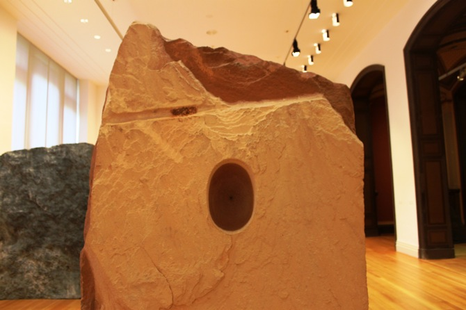 Untitled, 1992, Sandstone and pigment