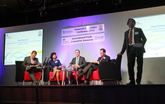 UKTI team on stage at Somerset in Business Conference 2013