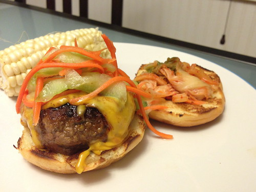 Noms, Not Bombs: Recipe: Sweet Barbecue Kim-Cheese Burgers