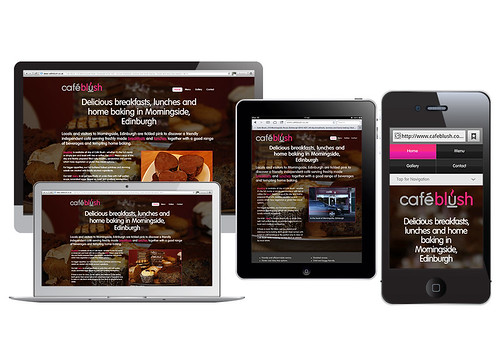 Responsive website for Café Blush, Morningside, Edinburgh