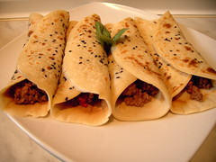 meal, taquito, flatbread, sandwich wrap, food, dish, cuisine,