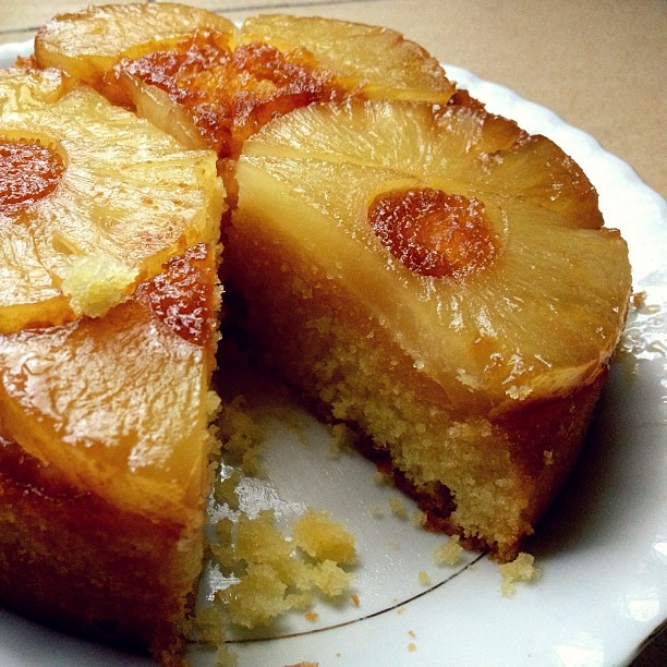 Mini Pineapple Upside Down Cake From Scratch