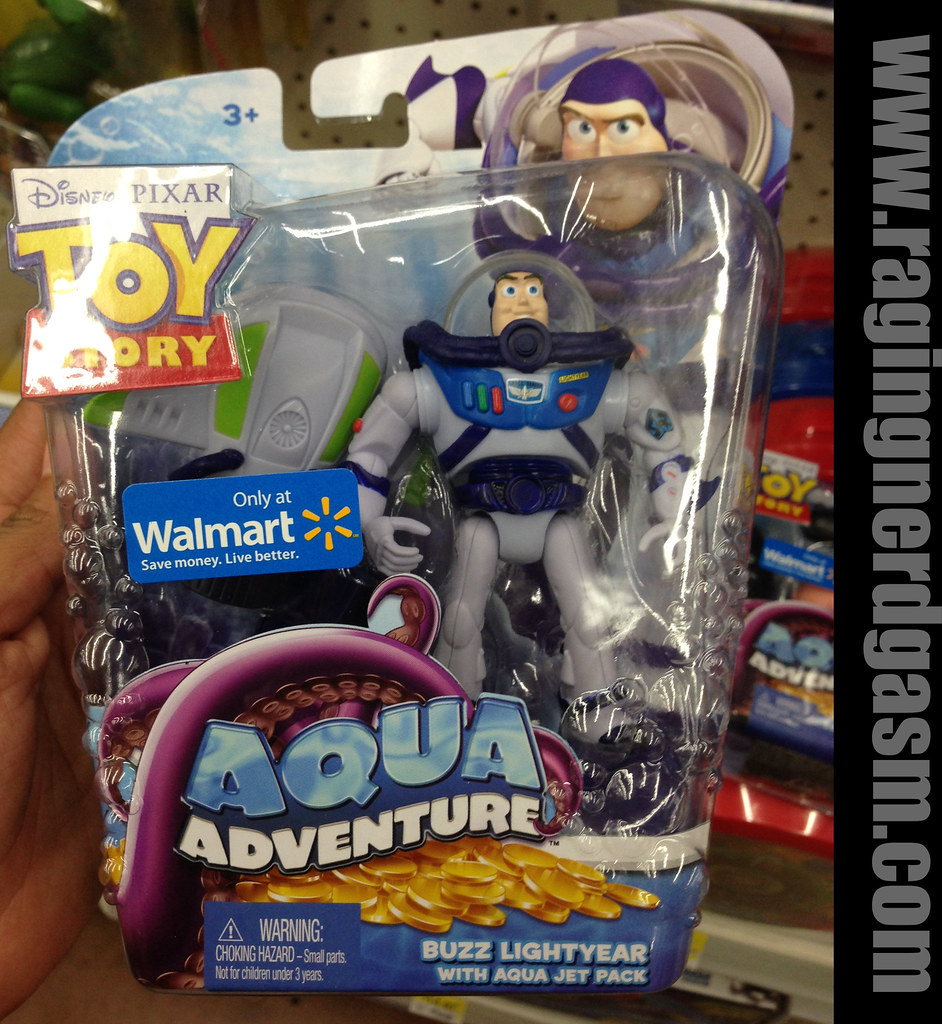 Disney's Pixar Toy Story Walmar Exclusive Aqua Adventure Buzz Lighyear with Aqua jet pack