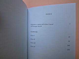 Joseph Conrad, Suspence. il canneto editore 2013. progetto grafico di Paroledavendere, Art Director: Camilla Salvago Raggi. Elenco uscite collana (part.), 2