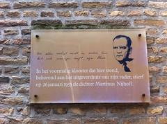 Photo of Martinus Nijhoff multicoloured plaque