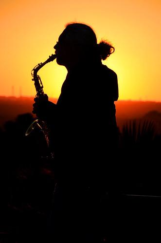 madrid sunset shadow españa sun man beautiful sunrise hair landscape spain espanha long sax saxophone templo debod saxofone