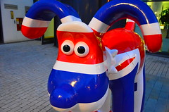 superhero(0.0), games(0.0), fictional character(0.0), costume(0.0), inflatable(0.0), balloon(0.0), blue(1.0), mascot(1.0), toy(1.0),
