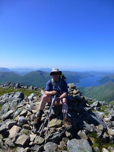 Me on Sgurr na Carnach Munro 2