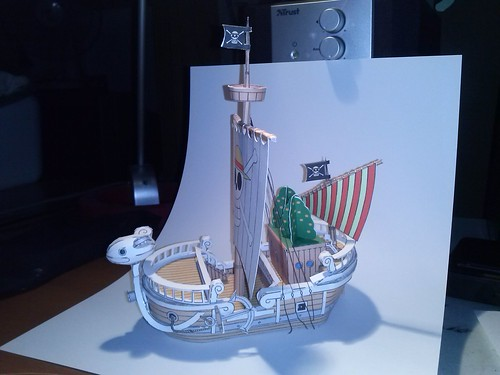 "One Piece ""Going Merry"" Paper Craft by Giuseppe Lombardi"