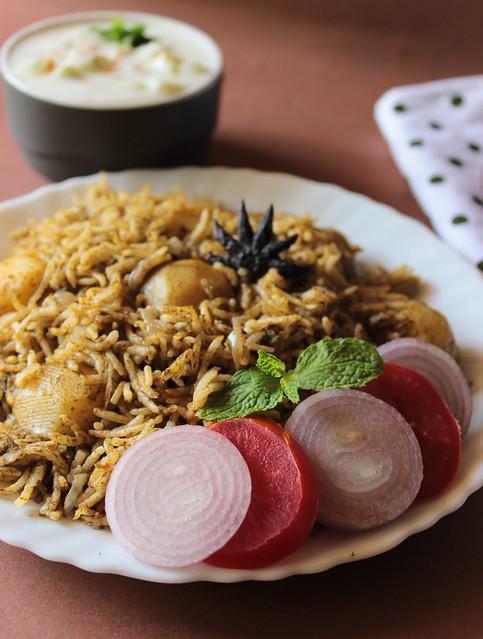Pudhina baby aloo rice