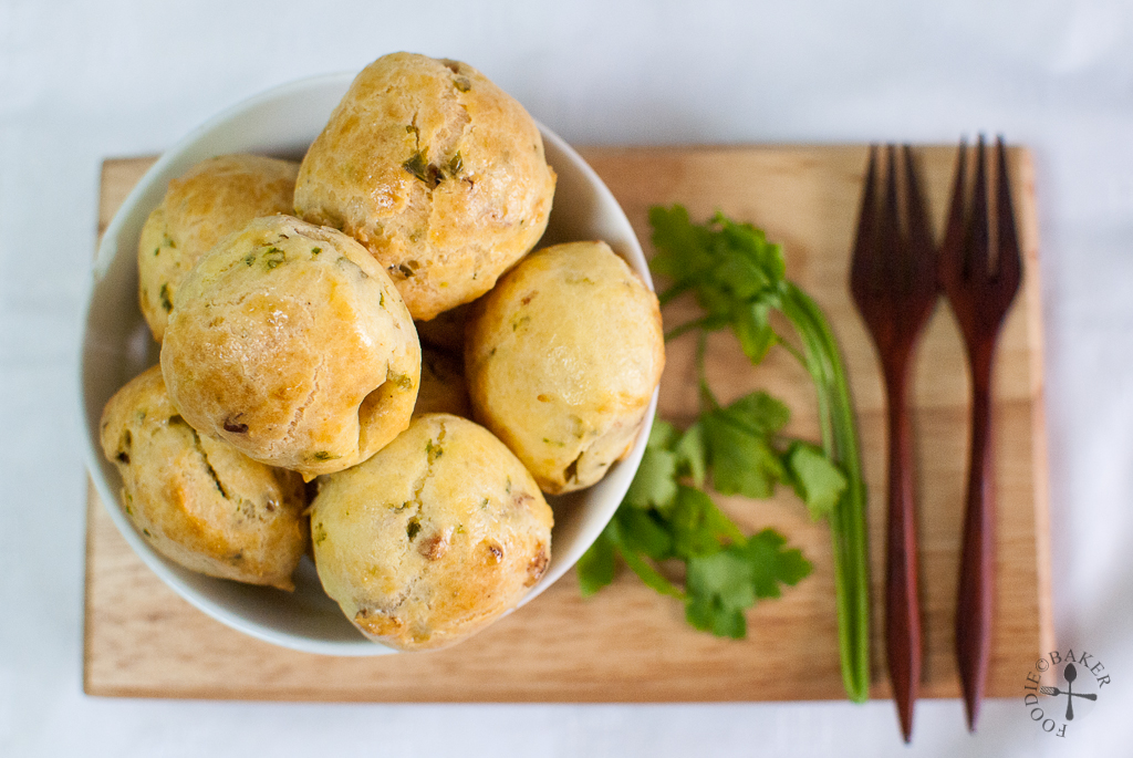 Parmesan, Bacon and Parsley Gougeres | Get the recipe at www ...